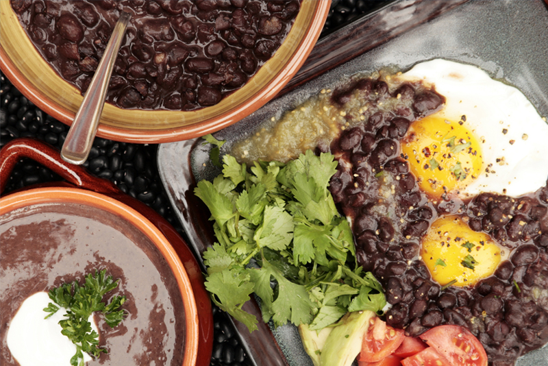 Cuban beans and eggs